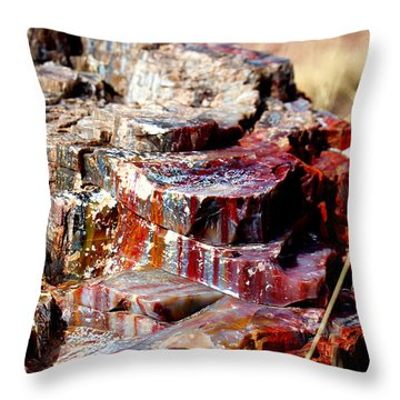 Metal Rock Throw Pillow