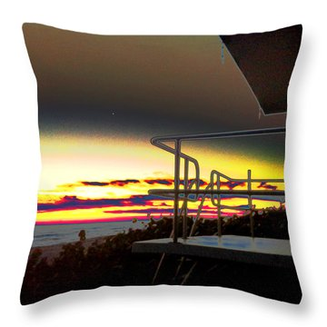 Metallic Sunrise Throw Pillow