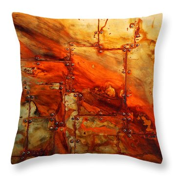 Metalwood Throw Pillow