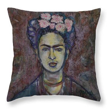 Metamorphosis Frida Throw Pillow