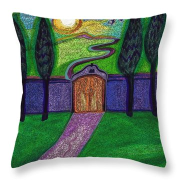 Metaphor Door By Jrr Throw Pillow by First Star Art
