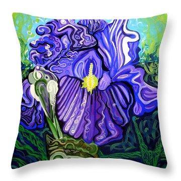 Metaphysical Iris Throw Pillow by Genevieve Esson