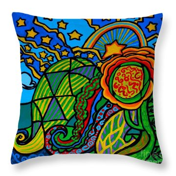 Metaphysical Starpalooza Throw Pillow by Genevieve Esson