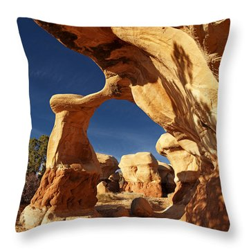 Metate Arch Throw Pillow by Leland D Howard