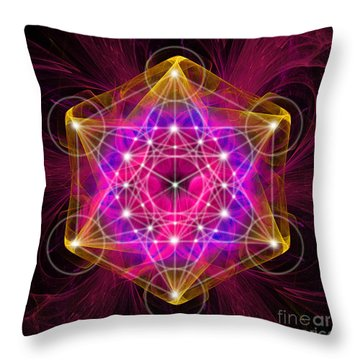 Metatron Cube  Throw Pillow