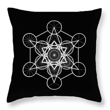 Metatron Wheel Cube Throw Pillow