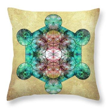 Metatron's Cube Throw Pillow by Filippo B