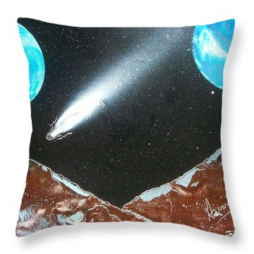 Meteor Moons Throw Pillow