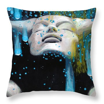 Meteor Shower Throw Pillow by Denise Deiloh