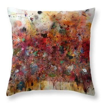 Meteoric Throw Pillow by Katie Black