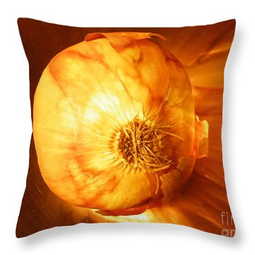 Meteoric Onion Throw Pillow by Brian Boyle