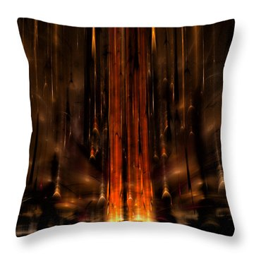 Meteors Throw Pillow by GJ Blackman