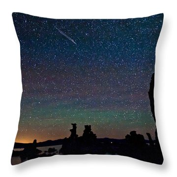 Meteors Over Mono Lake Throw Pillow