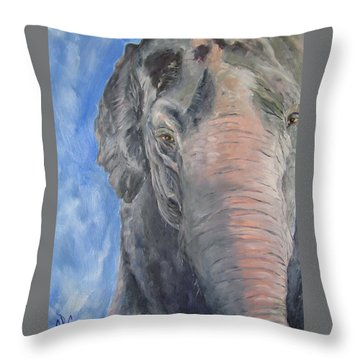 The Elder, Methai An Elephant Throw Pillow