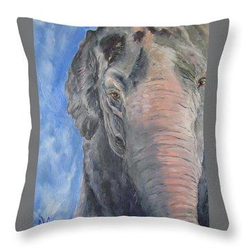 The Elder, Methai An Elephant Throw Pillow