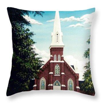 Methodist Church Throw Pillow