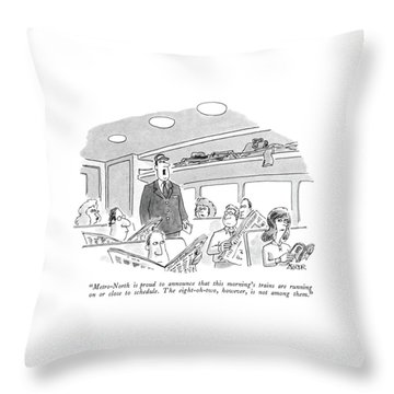 Metro-north Is Proud To Announce That This Throw Pillow