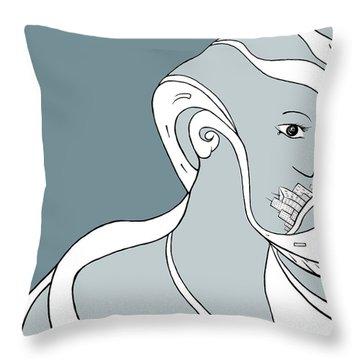 Metro Polly Throw Pillow