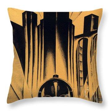 Metropolis Poster Throw Pillow