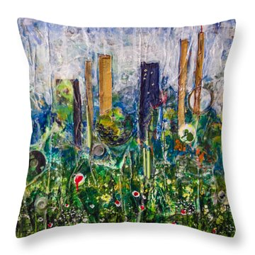 Metropolis Throw Pillow