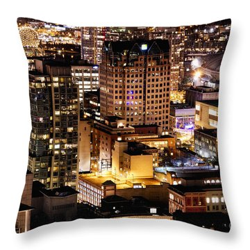 Throw Pillow featuring the photograph Metropolis Vancouver Mdccxv  by Amyn Nasser