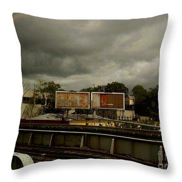 Metropolitan Transit Throw Pillow by Miriam Danar