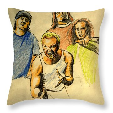 Mettalica Throw Pillow