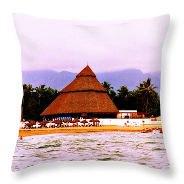 Mexican Beach Party Throw Pillow