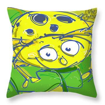 Mexican Bean Beetle Throw Pillow