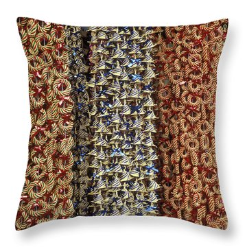 Throw Pillow featuring the photograph Mexican Christmas Garlands by John  Mitchell