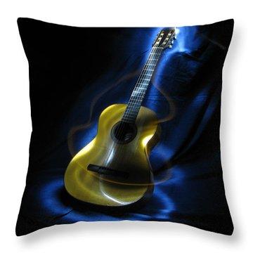 Mexican Guitar Throw Pillow