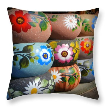 Mexican Pottery In Old Town Throw Pillow