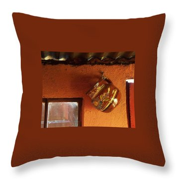Throw Pillow featuring the photograph Mexican Pottery by Joy Nichols