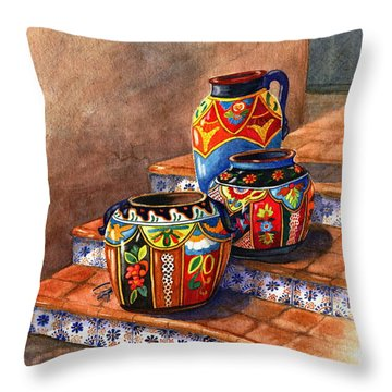 Mexican Pottery Still Life Throw Pillow