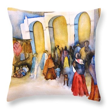 Mexican Prozession Throw Pillow