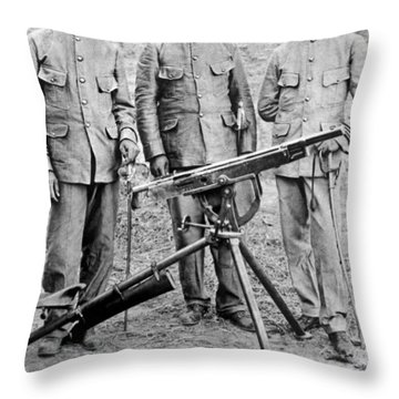 Mexican Rebel Commanders Throw Pillow by Underwood Archives