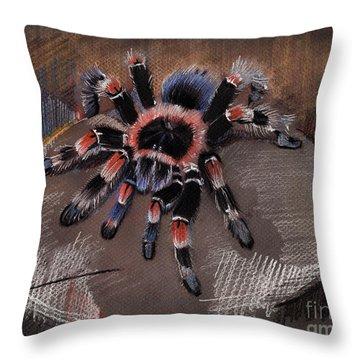 Mexican Redknee Tarantula Throw Pillow