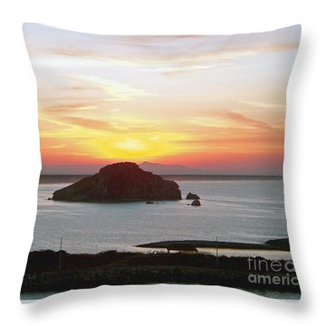 Mexican Riviera Sunset Throw Pillow