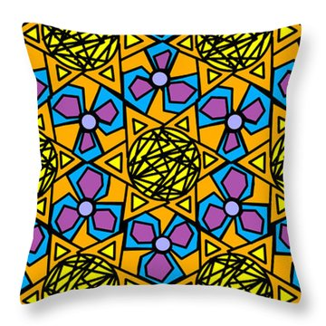 Throw Pillow featuring the digital art Mexican Sun / African Violet by Elizabeth McTaggart