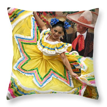Mexicanhatdance Throw Pillow