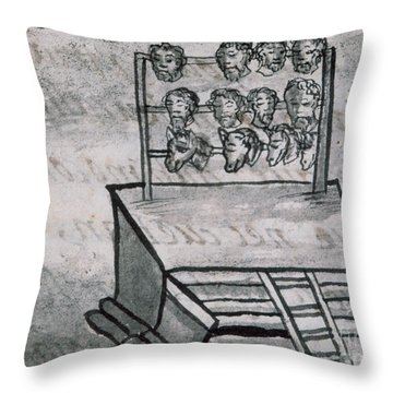 Mexico - Skull Rack Throw Pillow by Granger