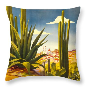 Mexico Direccion General De Turismo Throw Pillow