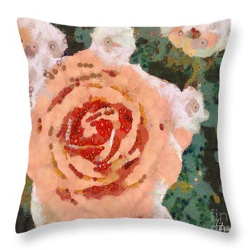 Alameda Meyers House Garden Klimt Rose Throw Pillow by Linda Weinstock