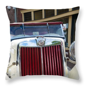 Mg Oldtimer Throw Pillow by Hans Engbers
