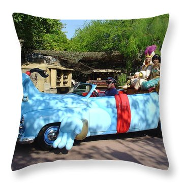 Throw Pillow featuring the photograph Mgm Aladdin by David Nicholls
