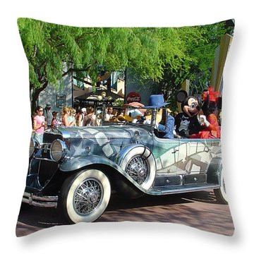 Throw Pillow featuring the photograph Mgm Famous 4 by David Nicholls