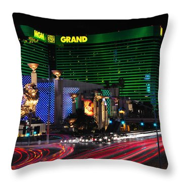 Mgm Grand Hotel And Casino Throw Pillow