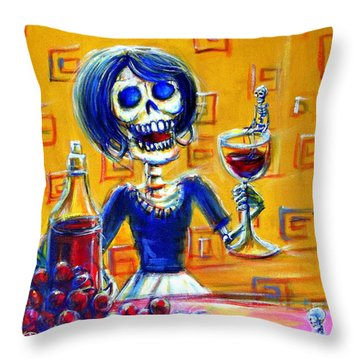 Mi Cabernet Throw Pillow by Heather Calderon