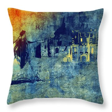 Throw Pillow featuring the digital art Mi Casa by Arline Wagner