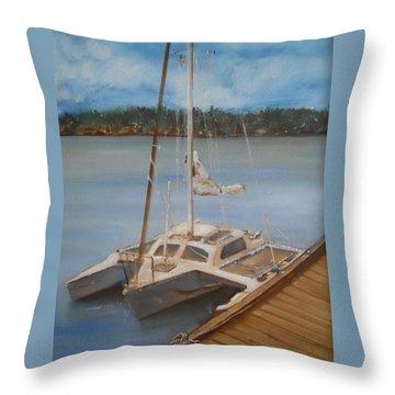 Mi Joy Throw Pillow by Joyce Reid